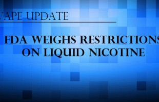 FDA Weighs Restrictions On Liquid Nicotine