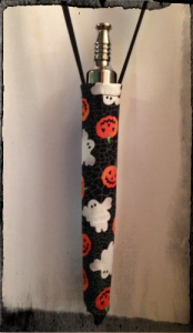 This lanyard can be easily made with a little bit of sewing, fabric, and string.