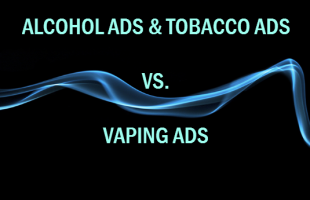 Alcohol Ad and Cigarette Ad vs. Vaping Ad